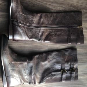 Enzo angliolini brown leather boots 6M